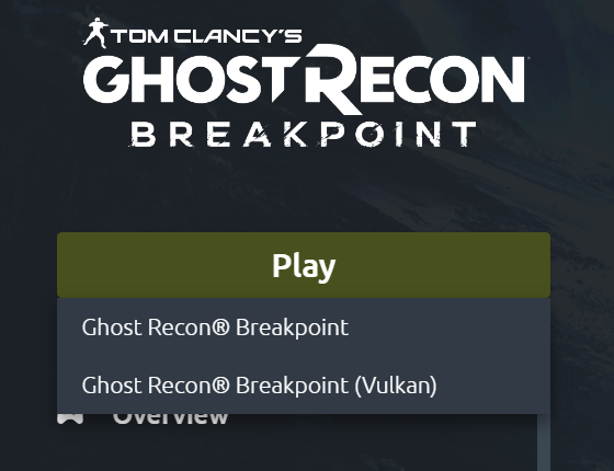 Ghost Recon Breakpoint API Selection