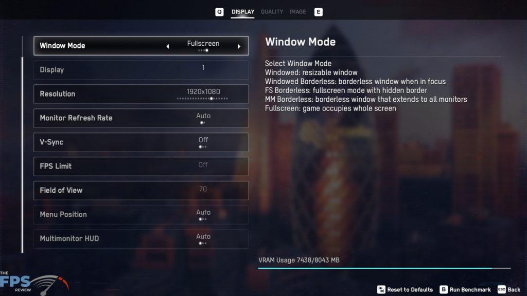 Watch Dogs Legion Display Settings Game Menu