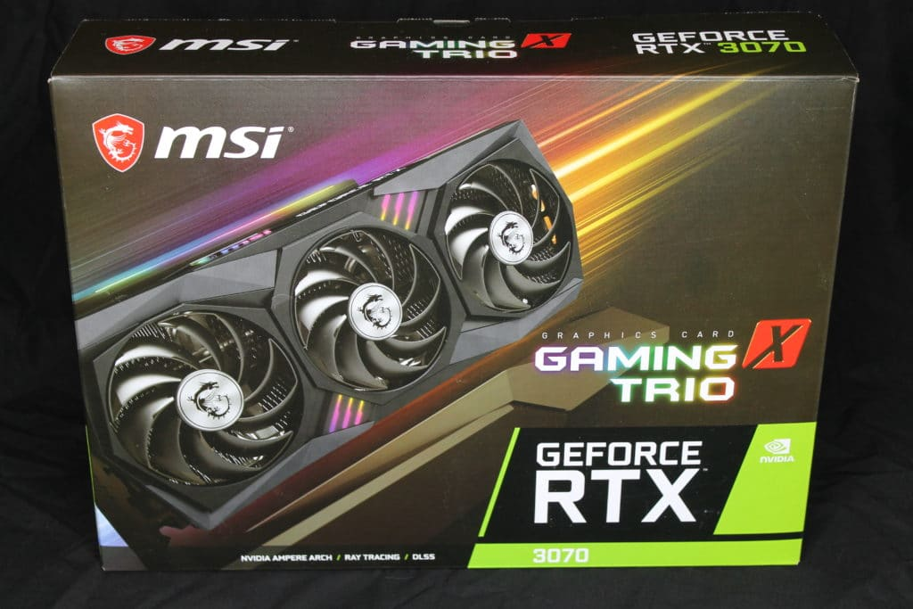 MSI GeForce RTX 3070 GAMING X TRIO Box Front View