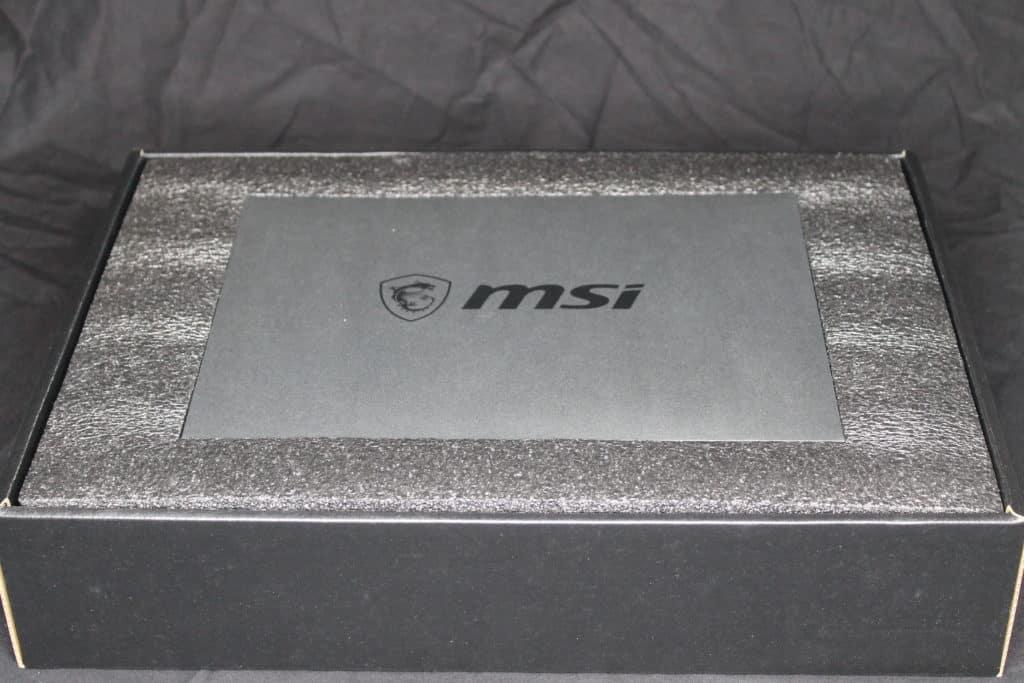 MSI GeForce RTX 3070 GAMING X TRIO Inside Box View