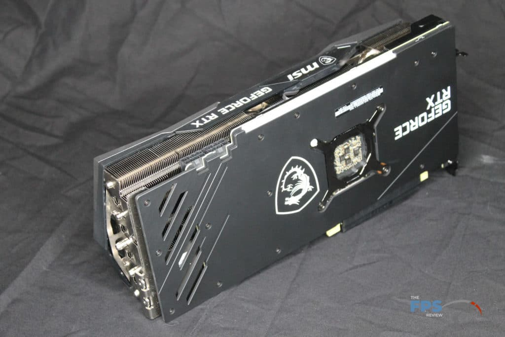 MSI GeForce RTX 3070 GAMING X TRIO Back Angled View