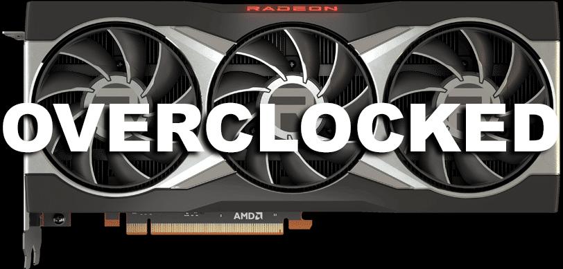 AMD Radeon RX 6800 XT with Overclocked overlayed
