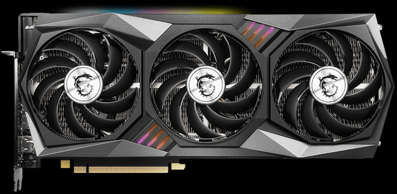 MSI GeForce RTX 3070 GAMING X TRIO Video Card Front Side