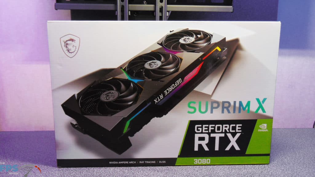MSI GeForce RTX 3080 SUPRIM X Box Front