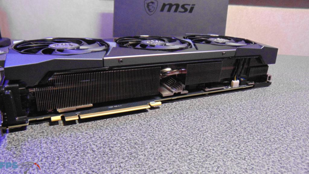MSI GeForce RTX 3080 SUPRIM X Edge of Card