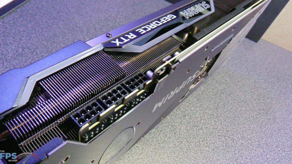MSI GeForce RTX 3080 SUPRIM X 3 PCI-Express Power Connectors