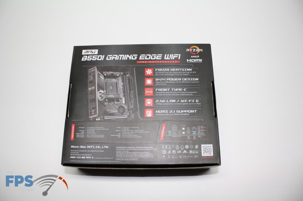 MSI B550I BOX bottom