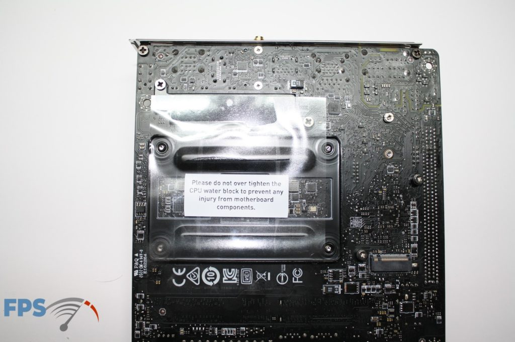 MSI B550I bottom board