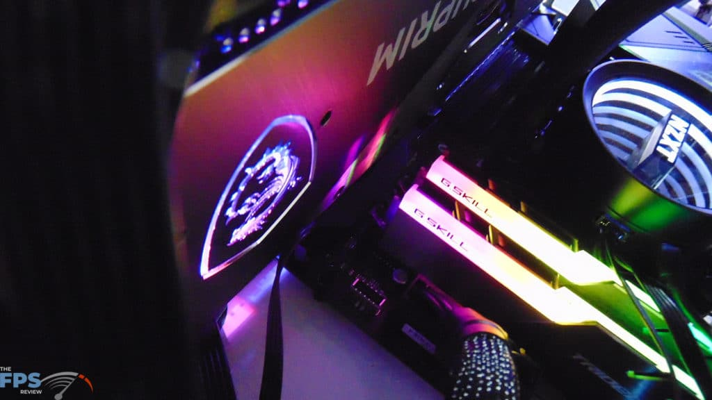 MSI GeForce RTX 3080 SUPRIM X Back Logo RGB