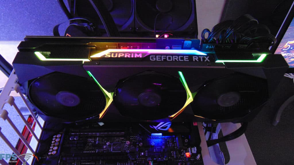 MSI GeForce RTX 3080 SUPRIM X Installed in Computer with RGB