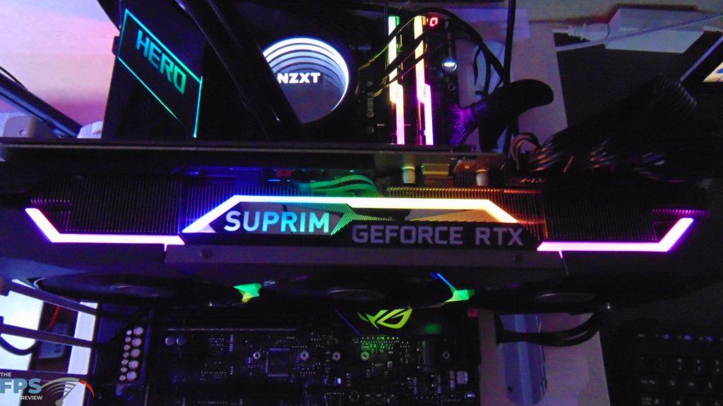 MSI GeForce RTX 3080 SUPRIM X SUPRIM Logo RGB