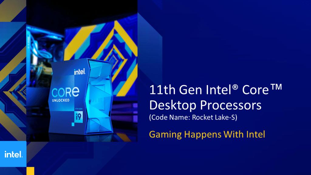 Intel 11th Gen Core Desktop Processor Rocket Lake-S Intro Presentation Slide