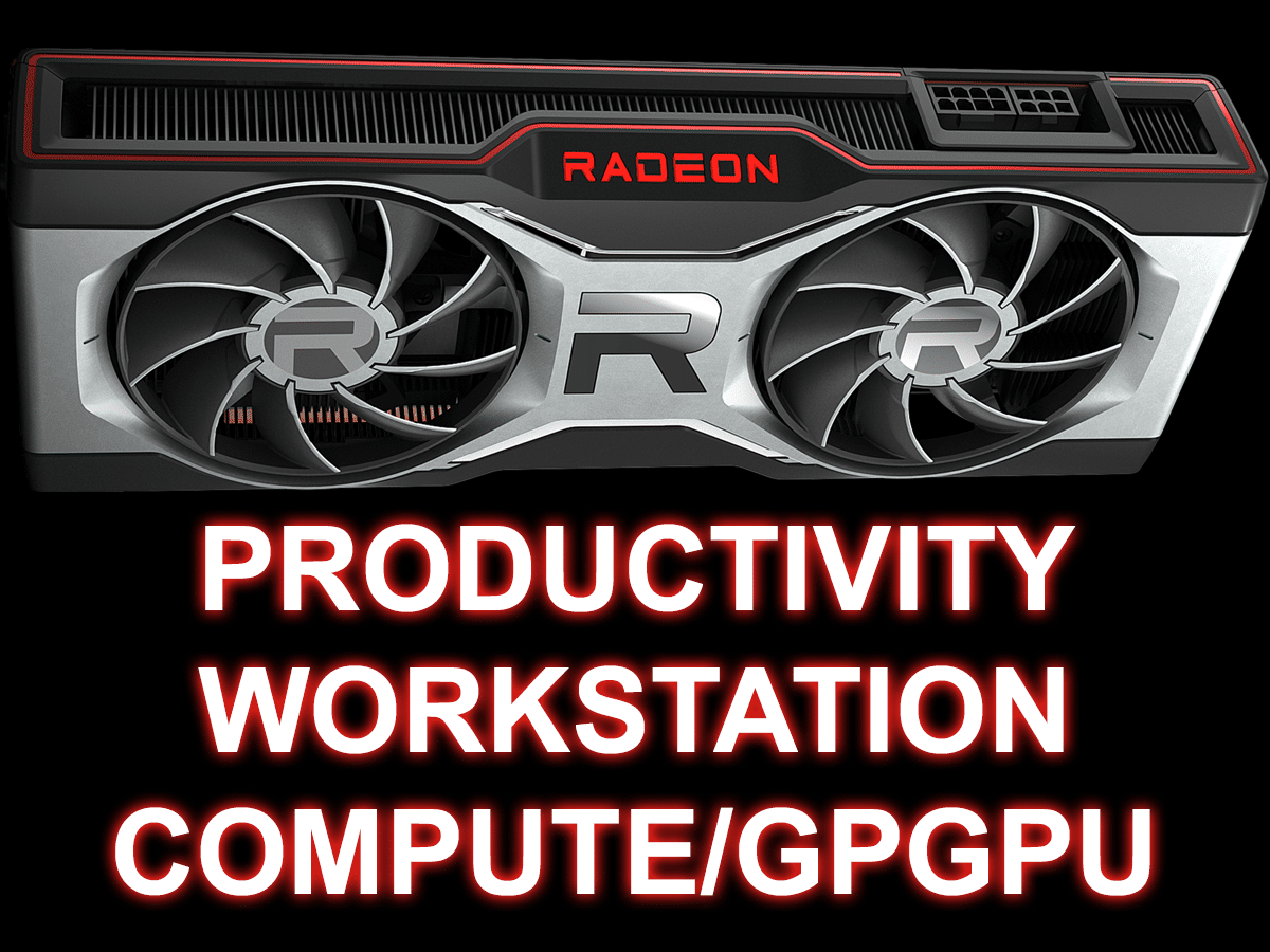 AMD Radeon RX 6700 XT Productivity Workstation Compute/GPGPU Featured Image